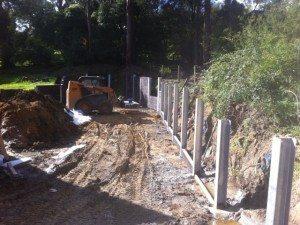 Retaining wall Healesville Victoria