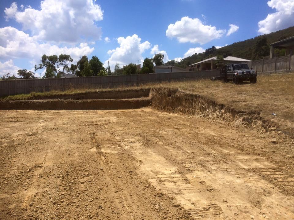 Site Cuts in Ferntree Gully, Melbourne